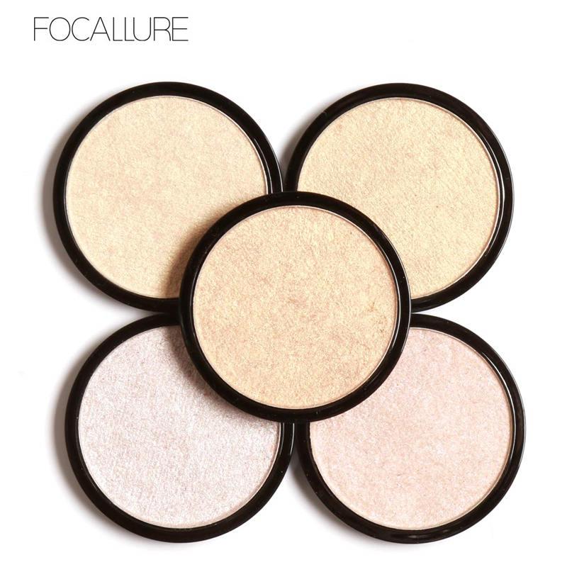FOCALLURE Highlighter Bronzer Wajah Makeup Eyeshadow Palette - Riasan - Foto 1
