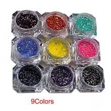Nail Glitter 9Boxes Set Art Glitte Powder Dust Ultra-fine diamond powder mixed ultra-fine small sequined nail Glitters, M22