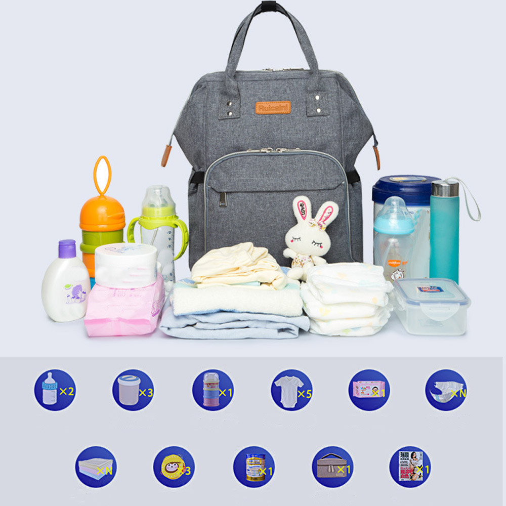 2018 Fashion Mommy Diaper Bags Baby Thermal Bag Portable Mother Nappy Tote Healthcare Kits dropship fashion cute panda baby mummy diaper nappy bags keep fresh lunch breast milk bag thermal portable travel picnic hobos baby care