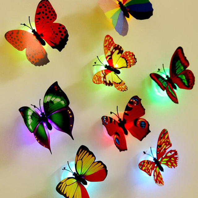 10 pieces/lot butterflies for decoration 3D wall stickers for kids ...