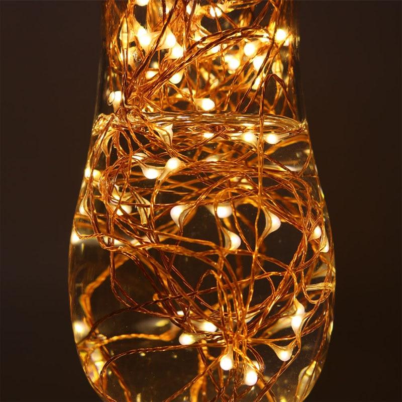 33Ft 100 LED Bakır Tel dize ışıkları LED Peri Işıklar Açık - Şenlikli Aydınlatma - Fotoğraf 5