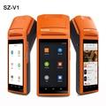 Handheld Sem Fio Bluetooth Impressora de Recibos Térmica usb Tela Sensível Ao Toque SIM Moblile Fone De Ouvido Android WIFI GPRS Terminal POS Sistema