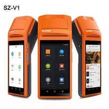 Ручной Беспроводной Bluetooth Термальность получения принтер Сенсорный экран usb sim наушников Android WI-FI GPRS Moblile POS терминал системы