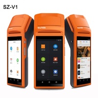 Handheld Wireless Bluetooth Thermal Receipt Printer Touch Screen usb SIM Headphone Android WIFI GPRS Moblile POS Terminal System