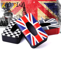 1PC Car Storage Bag For Mini Leather Tissue Box Napkin Holder Home Office Car Accessories High