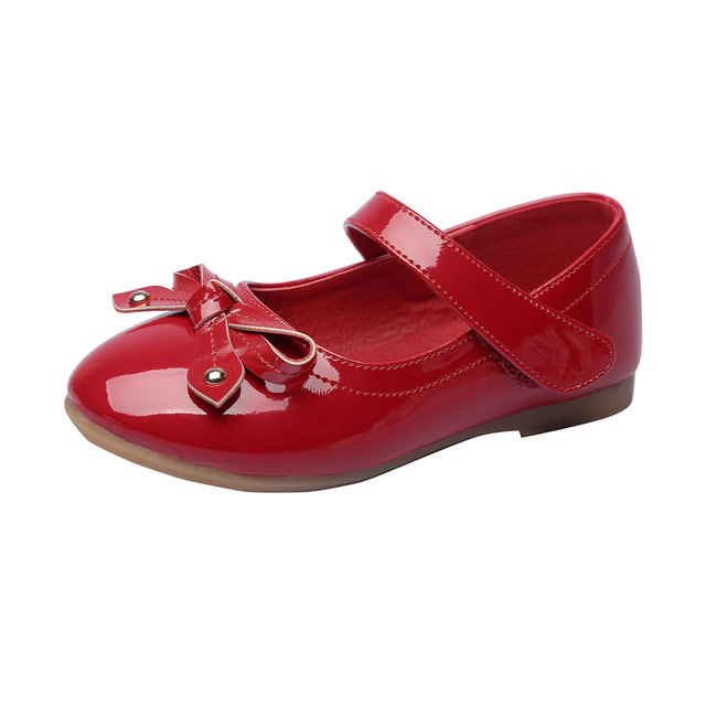 MSMAX Children Shoes Mary Janes Girls Party Dress Princess Single Shoes Pu  Leather Butterfly-Knot Kids School Wedding Shoes dea551d09417