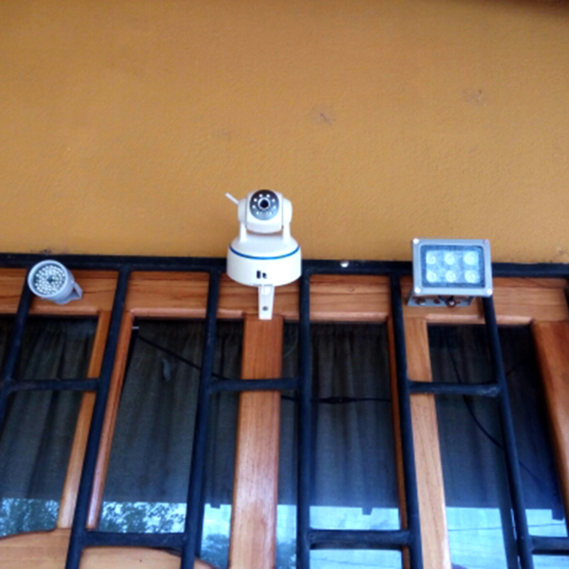 Купить с кэшбэком YiiSPO Array IR illuminator infrared lamp 6pcs Array Led IR Outdoor IP65 Waterproof Night Vision for CCTV Camera 90-60-45degree
