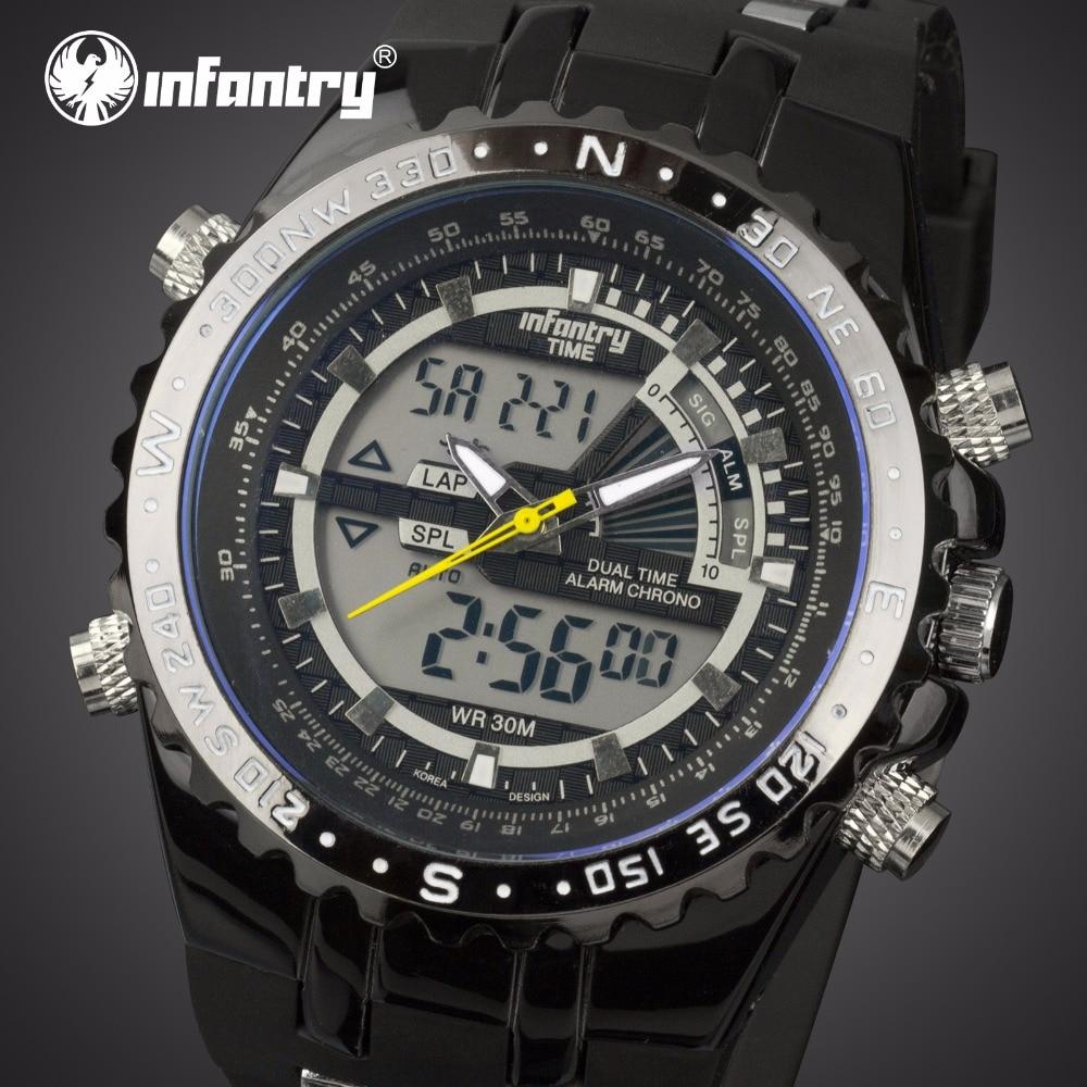 INFANTRY Mężczyźni wielofunkcyjny zegarek kwarcowy Pasek gumowy - Męskie zegarki - Zdjęcie 1