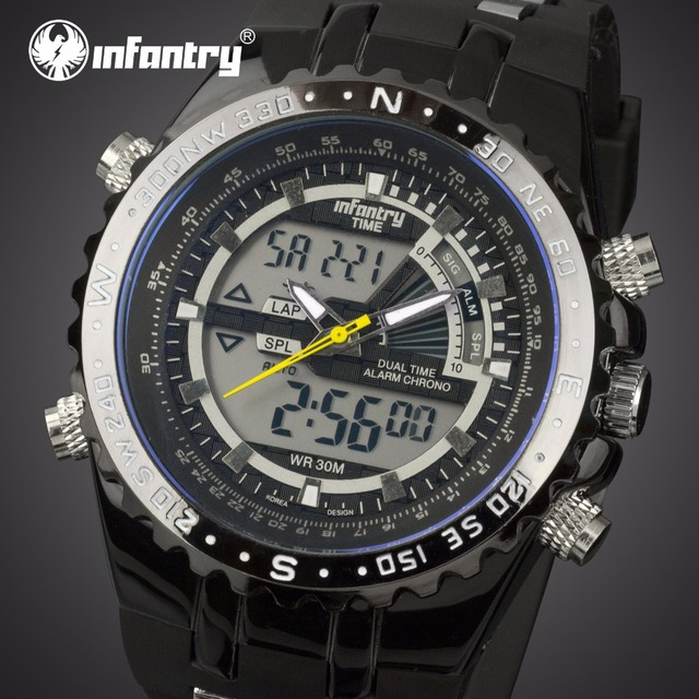 INFANTRY Mens Watches Top Brand Luxury Analog Digital Military Watch Men Tactical Aviator Army Watches for Men Relogio Masculino