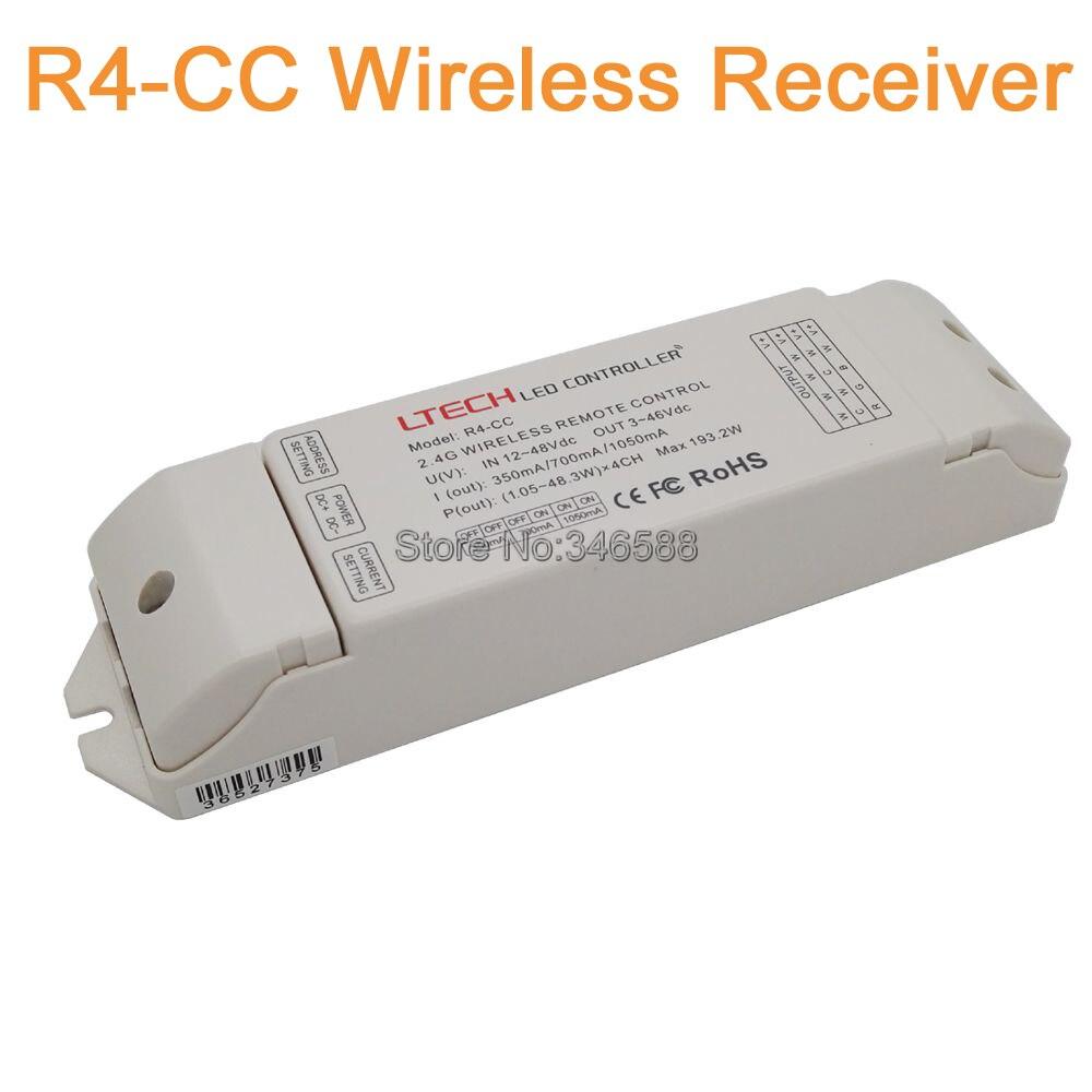 Ltech DC12-48V 350mA/700mA/1050mA R4-CC Constant Current Zone Receiving Controller DMX512 Decoder DMX Signal Driver 2.4G Wireles r4 cc ltech dmx512 decoder rgbw controller constant current dmx signal driver wireless led dimmer
