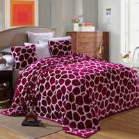 1.2 m and 1.5 m Coral cashmere wool fabric bed size single bed blanket cartoon bear blanket sleep multi function soft