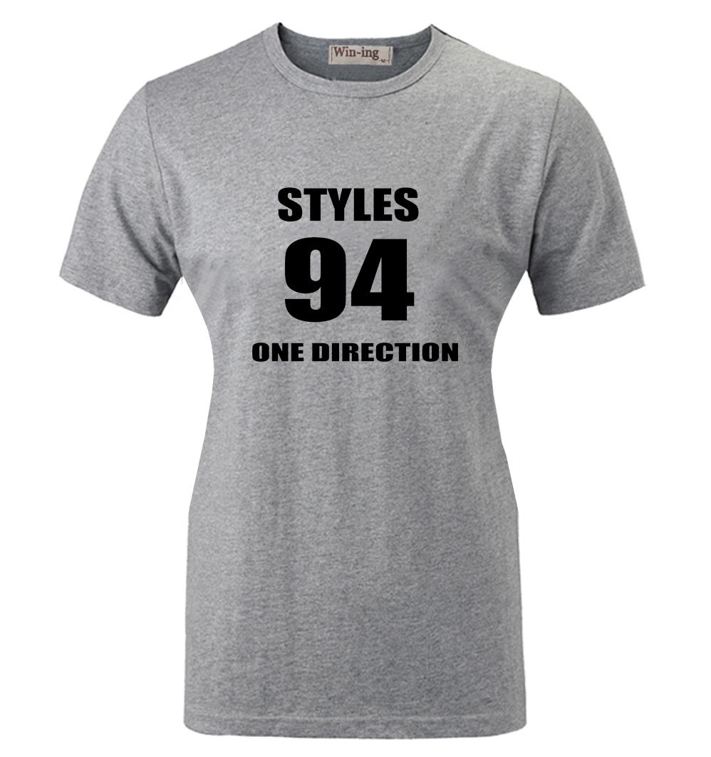 a2411077babf61 Style Nr 94 One Direction 1D Zespół Wzorzec Projektowania Drukowane Krótkim  rękawem T-Shirt kobiet Dziewczyny Graphic Tee Topy koszulki z krótkim  rękawem