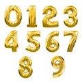 2016 Горячей 32 inch Воздуха Золотой Номер Шар Алюминиевой Фольги Гелиевые Шары День Рождения Свадьба Украшения Праздничные Поставки