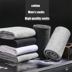 Image 3 - 10 par/partia wysokiej jakości męskie bawełniane skarpetki czarne biznesowe męskie skarpetki oddychająca jesienno zimowa dla mężczyzn Solid Color 2020 New Hot