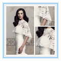 High Collar Wedding Jacket High Quality Lace Hi-Lo Wedding Coat Wedding Bolero (ASPS-1034)