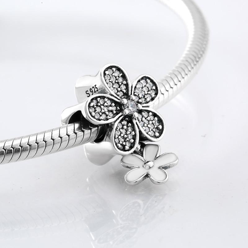 925 Sterling Silver white Enamel Charm