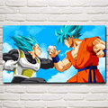 Son Goku Vegeta Dragon Ball Super Saiyan Blue Anime Cartoon Art Silk Poster Home Decor Printing 11x20 30x54 Inch  Free Shipping