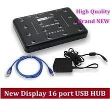 Free shipping via DHL /EMS Hot sale new display 16 port usb hub, hard disk production batch testing, cheap price 16pirt HUB