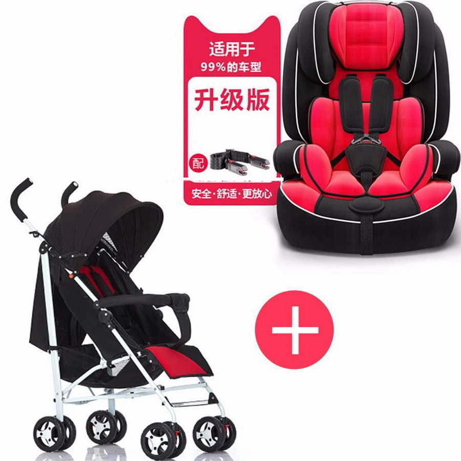 Free Shipping Child Safety Car Seat Baby Portable Large Chair 9 Months-12 Years Chair and Cart Combination SY-YZ210-2 child safety seat car baby car seat 9 12 years old 3c certified chair and stroller combination set sy 215 5