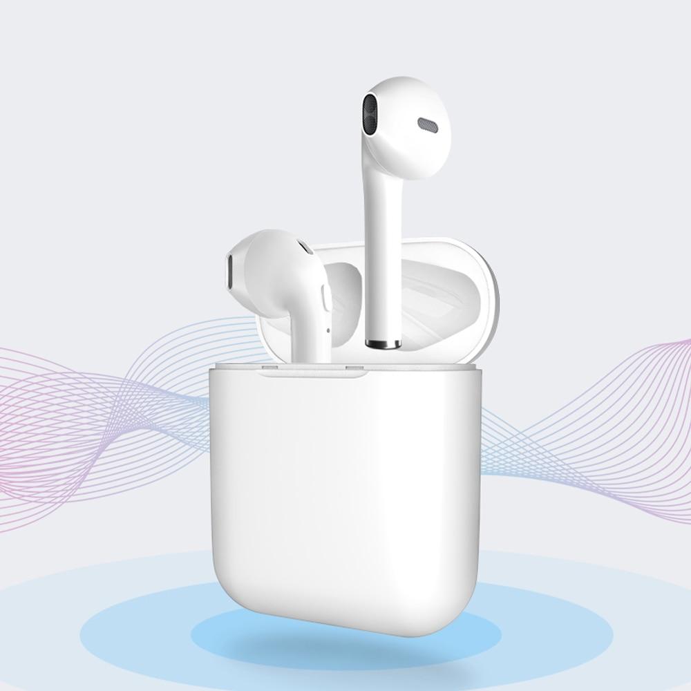 Hi Fi Stereo Sound Wireless Earphone Bluetooth 5.0 Semi In ear Earbuds Gym Sport Headphone for iPhone 7 8 X Xr Xs Xs max.