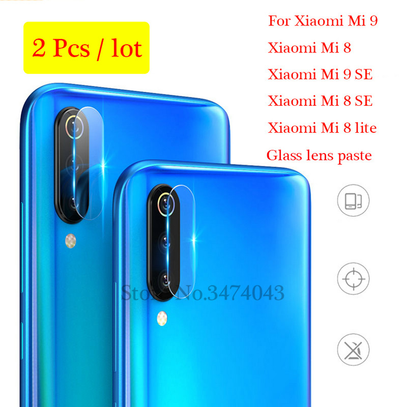 2PCS <font><b>Camera</b></font> Lens screen <font><b>protector</b></font> For <font><b>Xiaomi</b></font> Mi 8 Mi8 lite SE Tempered Glass Clear Protection Film For <font><b>Xiaomi</b></font> Mi 9 <font><b>Mi9</b></font> SE Glass image