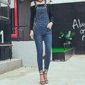2016 Otoño Invierno Causal Plus Size S-xl Extraíble Overol de Mezclilla Mujeres Estudiante Joven Jeans Mamelucos Womens Jumpsuit Calle desgaste
