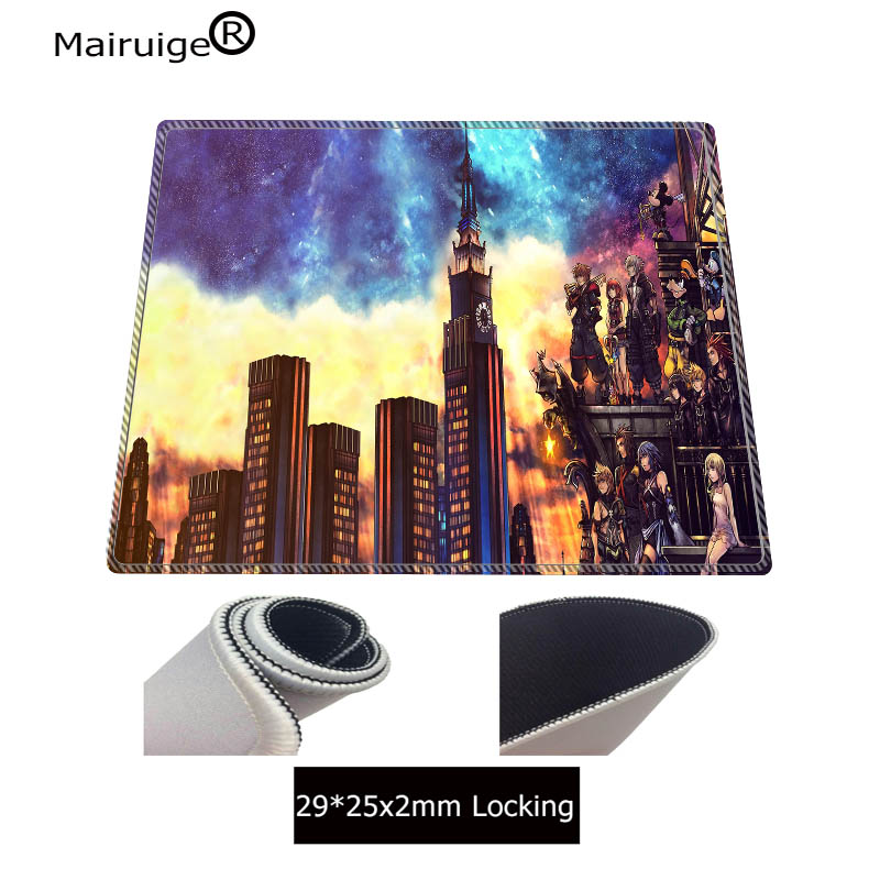 Mairuige Kingdom Heart Pattern Speed Edition Large Gaming Mouse Pad Black Lock Edge MousePad Computer Table Mat Keyboard Pad 3