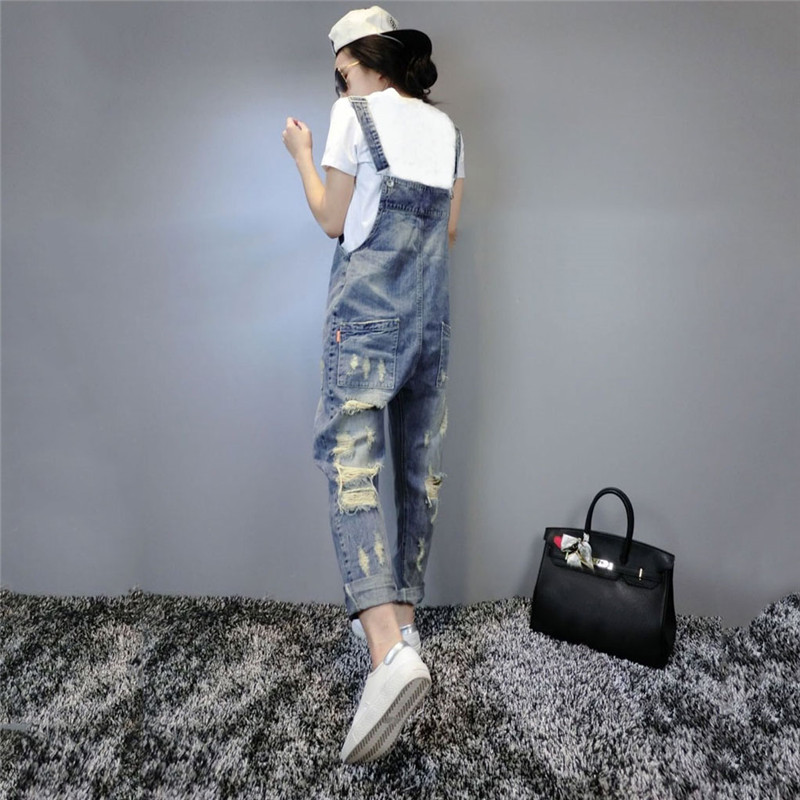 2019 New Fashion Denim Jumpsuits Women Vaqueros Romper Long Pants Jeans Demin Skinny Overalls Suspender Female Catsuit YH122 in Jumpsuits from Women 39 s Clothing