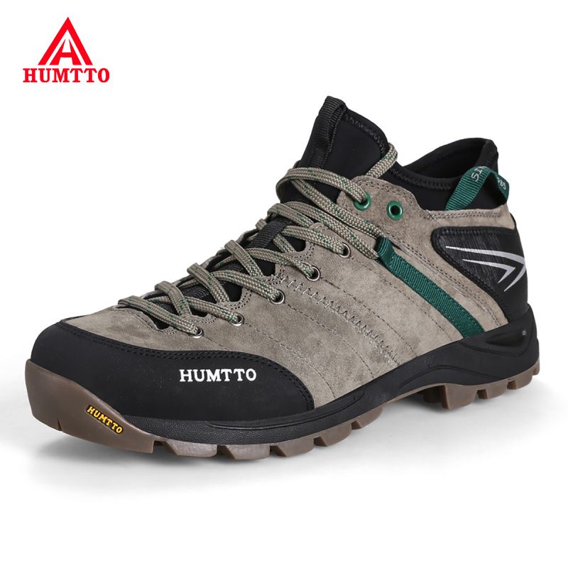 Outdoor Professional Men Mountain Shoes Genuine Leather Man Hiking Shoes Breathable Hunting Tourism Climbing Trekking Shoes