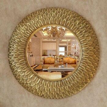 Декоративные зеркала Dia75cm в европейском стиле, декоративные зеркала в форме подсолнуха для телевизора, декоративные зеркала для ванной ком