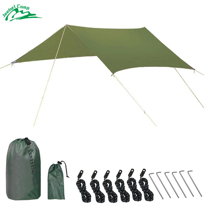 Jeebel Outdoor Sun Shelter Sun Shade Waterproof Beach Tent Awning Picnic Camping Canopy Hiking Tarp Pcinic Awning Tourist outdoor 1 person inflatable boat canoe kayak sun shelter awning top cover sun shade blue for camping hiking fishing equipment