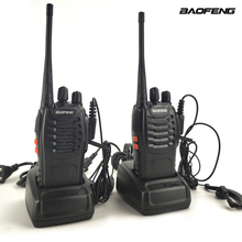 2pcs/Lot Baofeng BF-888S UHF 400-470MHz Mini Portable Two-way radio Transceiver Baofeng BF 888S Walkie-Talkie for ham