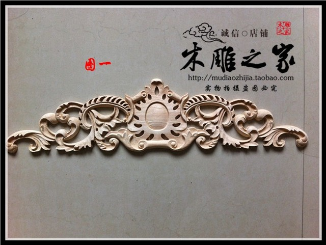 Dongyang woodcarving flower carved wood applique european