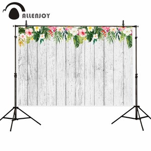 Allenjoy photography background wood flower leaves wedding birthday party backdrop photo shoot props photocall photobooth