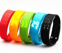 USB W2 SmartBand Led наручные часы fuelband-Поддержка время и калорий и шагомер и Температура & Sleep Мониторы