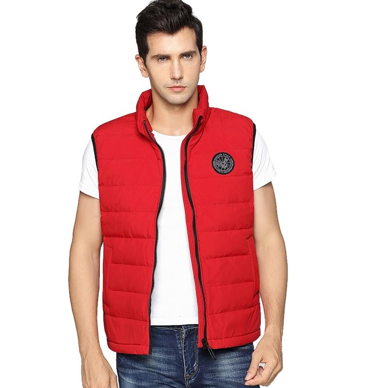 2018 NEW Man Thick Duck Down Vest Men Sleeveless Outerwear Autumn Winter Fashion Coat Woman Vest Lovers