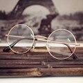 2017 Óculos de Leitura Espelho Redondo Lente Nenhum Grau de Metal Frame Da Liga de Óculos Unissex para Homens Mulheres Estilo Moda 0716