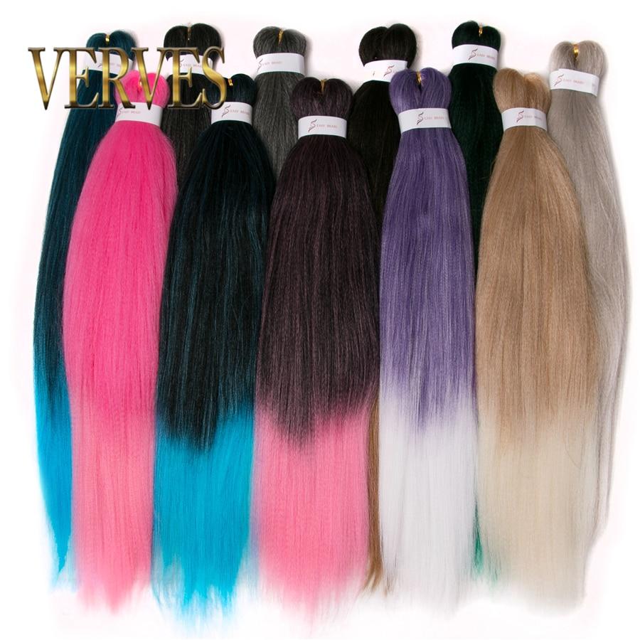 VERVES Braiding Hair Crochet 26 Inch Jumbo Braids 100g/piece Synthetic Ombre Heat Resistant Fiber Hair Extensions Crochet Braid