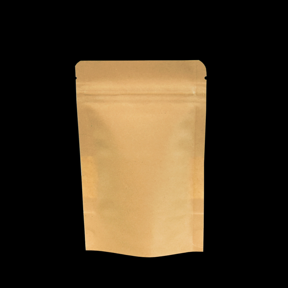 50pcs lot 10 15cm Brown Heat Sealable Stand Up Kraft Paper Package Bags with Matte Clear Window Reusable Zip Lock Packing Pouch in Storage Bags from Home Garden