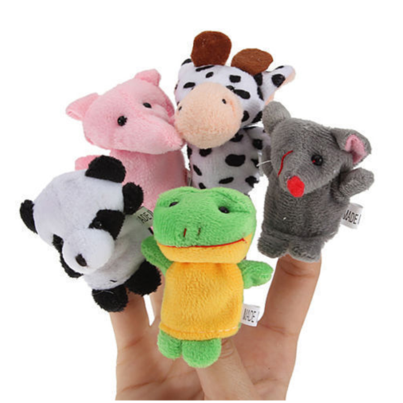 10pcs Puppets Doll Children Kids Babys Cute Finger Baby Educational Hand Cartoon Animal Toys For Children Brithday Gift