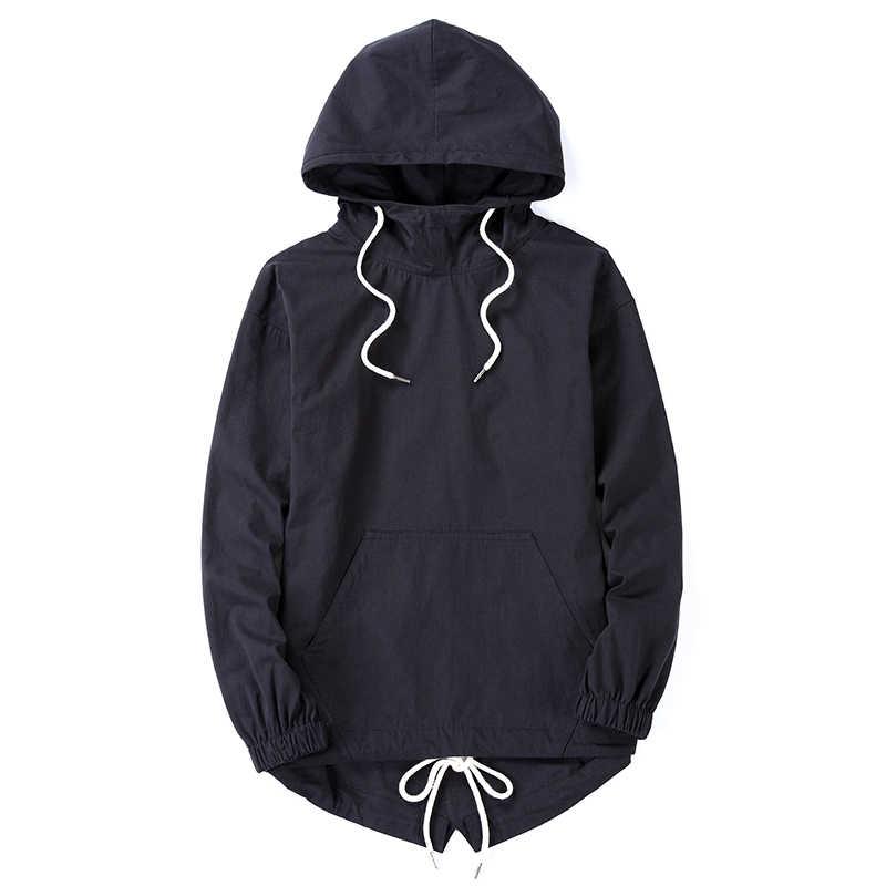 2017 estilo Streetwear sudaderas con capucha para Hombre Sudaderas de gran tamaño nueva moda Hip Hop hombres de alta calle sudadera Leisure Pullovers con capucha