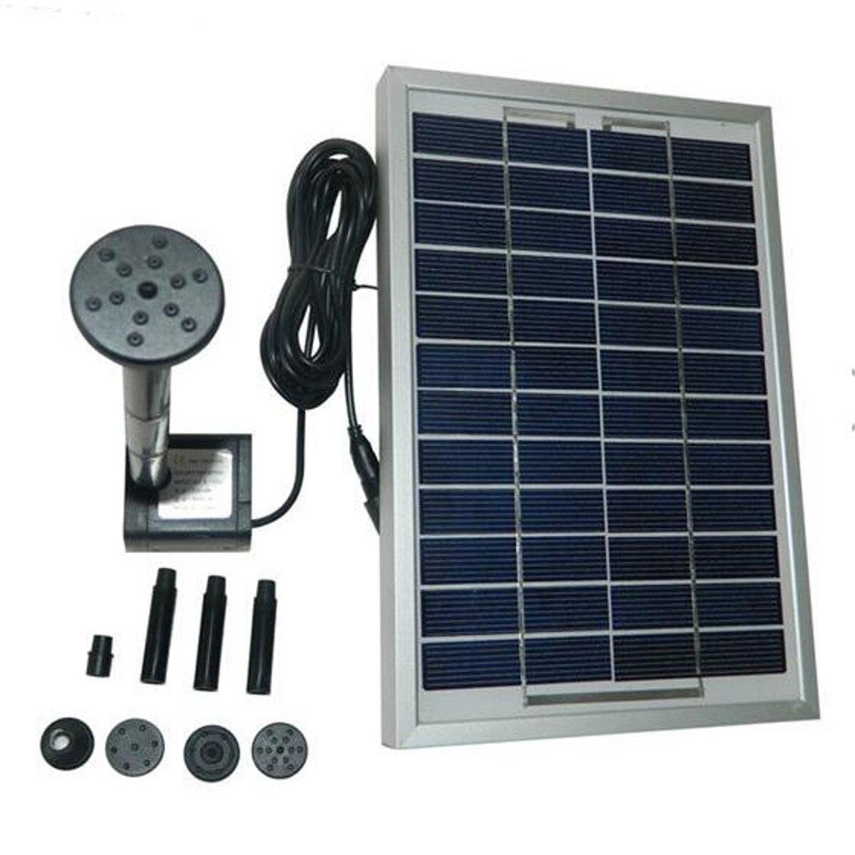 12 V 5 W 380l/h Solar Power Mini Fontein Pomp Tuin Landschap Dc Borstelloze Waterpomp
