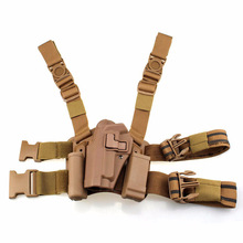 Black / Tan Tactical Gun Carry Military Combat Sig Sauer P226 Pistol Leg Holster Hunting Equipment Left Hand Pistol Holster цена и фото