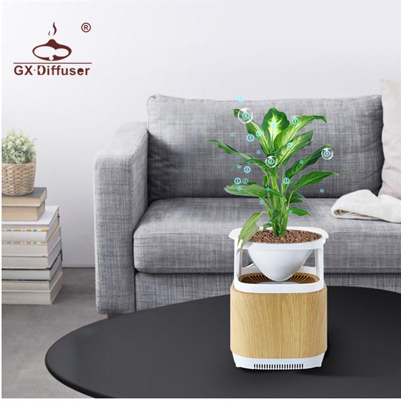 GX.Diffuser Fresh Air Purifier Flower Pot Plant Negative Ion Generator Air Cleaner Air Purifier Air Fresh For Home & Office katadyn mybottle purifier white flower