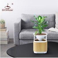 GX.Diffuser Fresh Air Purifier Flower Pot Plant Negative Ion Generator Air Cleaner Air Purifier Air Fresh For Home & Office