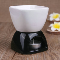 Black And White Fashion Ceramic Aromatherapy Furnace Candle Lamp Water Bowl Essential Candle Home Fragrance Oil