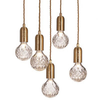Modern Crystal Glass Ball LED G9   Pendant     lights   Creative Restaurant   Pendant   LED Bulb Lighting navidad Decor Hall Ball Droplight