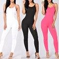Cinta Clube apertado Sexy Bodysuit Macacões Rompers Womens Jumpsuit Playsuit Bodycon Macacão Macacão mulher 2017 Combinaison Femme