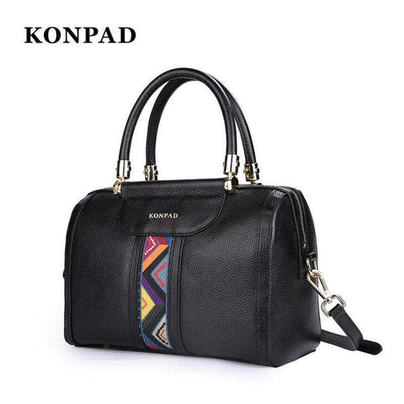 KONPAD luxury handbags women's designer bags summer travel bag ladies genuine leather handbag women's bag design women's handbag