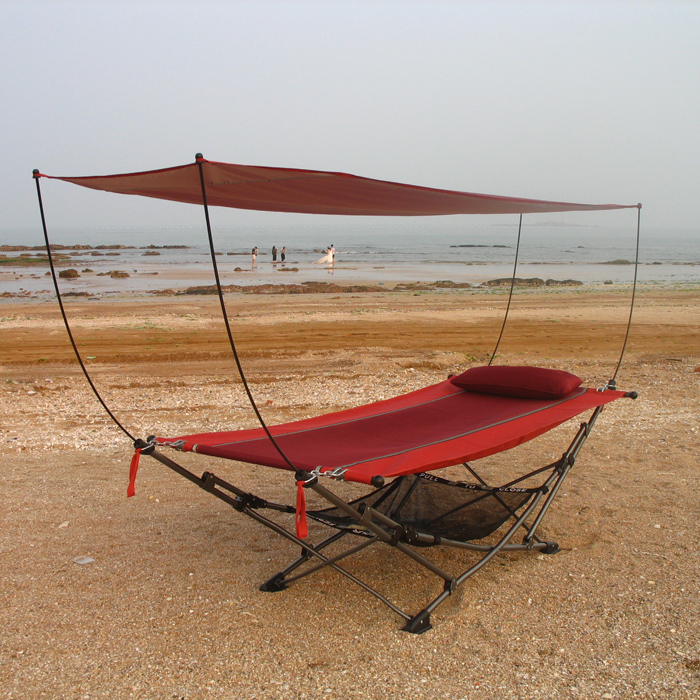 outdoor furniture outdoor shade mosquito folding bed portable hammock stand  casual lunch bed sturdy swing chair garden furniture-in Sun Loungers from  ... - Outdoor Furniture Outdoor Shade Mosquito Folding Bed Portable